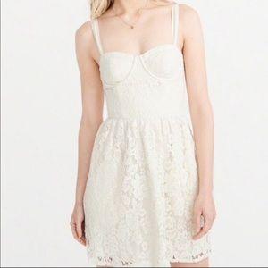 Abercrombie & Fitch Cream Lace Corset Dress